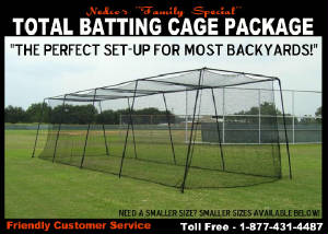 Complete Batting Cage Packages - Backyard batting cages for sale